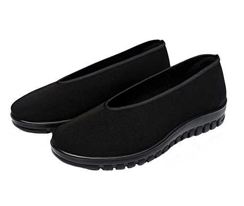 Nanxson-TM-Tai-ChiKung-Fu-Shoes-Chinese-Traditional-Cloth-Rubber-Sole-Black-Training-Slippers-TJX0001