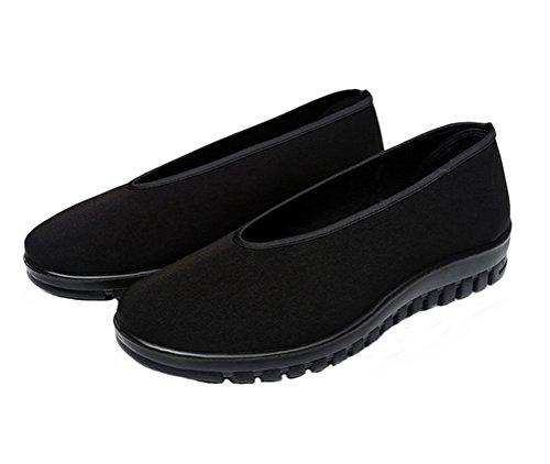 Nanxson(TM) Kampfsport Tai Chi Kung Fu Schuhe mit Gummisohle für Damen und Herren TJX0001 Schwarz