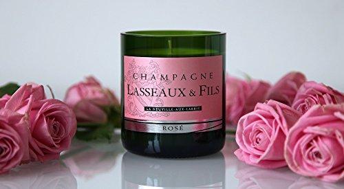 Design Bubbles Champagne Lasseaux Rosé Candle
