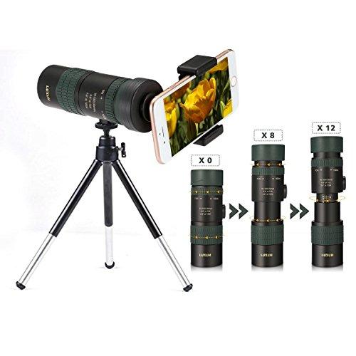 Monokulares Teleskop OUTERDO 7-17*30 Dual Fokus Nachtsicht Fernglas Camping Jagd Reisen Vogelbeobachtung BAK4 Prisma Scope mit dem durablen Tripod und Handy-Adapter wasserdicht Optik Zoom