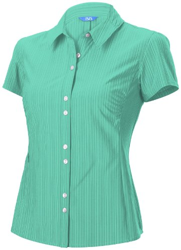 Isis Damen Vineyard Short Sleeve Shirt, damen, Lake (Shirt Sleeve Lake Short)