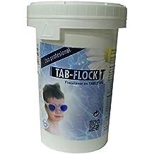 TAB-FLOCK-T®: Floculante / Coagulante / Clarificador de Piscinas en Tabletas 100 gr. Bote 1 kg