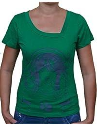 FICUSTER Women's/Girl's Green Top - MEDIUM