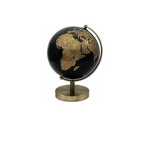 Lesser & Pavey World Globe, goldfarben/schwarz, 27 cm