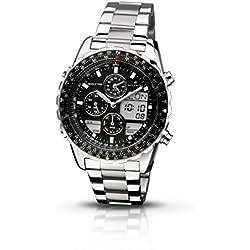 Accurist MB775B - Reloj de cuarzo para hombres, color negro