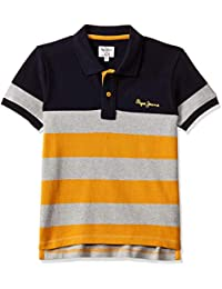 Pepe Jeans Boys' Striped Regular Fit T-Shirt