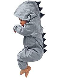 ❤️ Modaworld Monos para Unisex bebé Niñas Niños Recién Nacido bebé niño niña Dinosaurio con Capucha Mameluco Mono Trajes Ropa Conjuntos