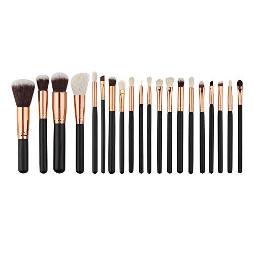 20Pcs/Set Pro Maquillage Cosmétique Kabuki Brush Fondation Visage Pinceaux à Lèvres Fard à Paupières Eyeliner