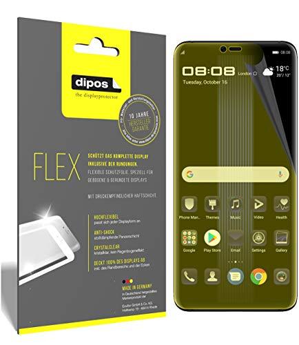 dipos I 3X Schutzfolie 100% passend für Huawei Porsche Design Mate 20 RS Folie (Vollständige Displayabdeckung) Displayschutzfolie
