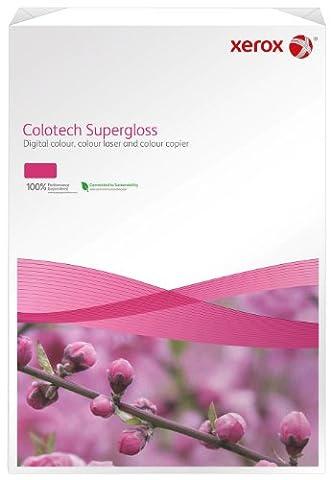 Xerox 003R97681 Rame de 250 feuilles de papier photo Premium Colotech Supergloss A3 160 g/m² pour imprimantes laser couleur (Blanc) (Import Allemagne)