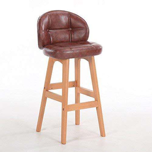 ch-AIR Chaise de Salle à Manger/siège de Bar,Chair Chaise Haute en Bois Massif Room Salon/Réception / Salon de beauté/Salon de Coiffure/Tabouret,78cm,* 04