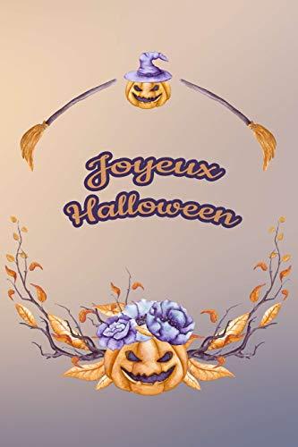 Carnet de Notes: Halloween - Petit journal personnel de 121 pages lignées avec couverture et pages sur le thème d'Halloween (Mon petit journal d'Halloween, Band 30)