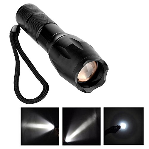 UltraFire 2000Lm CREE XM-L T6 LED Zoomable lampe de poche Pour Torche 18650 Tactique, Noir