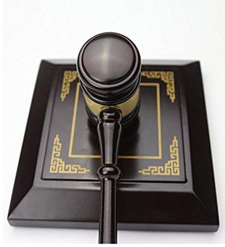 SMO Holz Richterhammer Auktion Hammer Auktionshammer mit Sound-Block für Rechtsanwalt Richter Auktion Handarbeit (Style 2)
