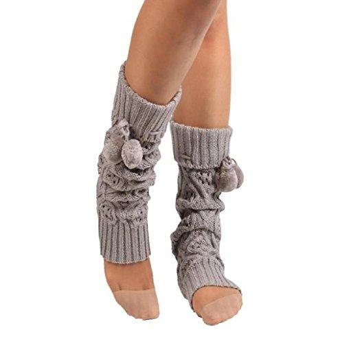 Sannysis Mujeres encaje elástico Puños Botas Calcetines de punto cub