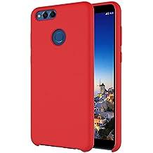 Honor 7X Cover,Custodia Candy silicone per Honor 7X di Xiu7, design ultrasottile e leggero-Rosso