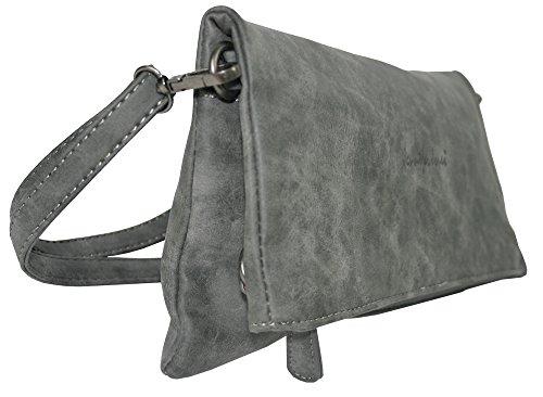 schwarz Handtasche 3819 oder Clutch Umhängetasche Tasche Jones Jennifer Clutch Groß 3 Tragevarianten Grau Crossbody Schultertasche Damen qfp1OUUxwt
