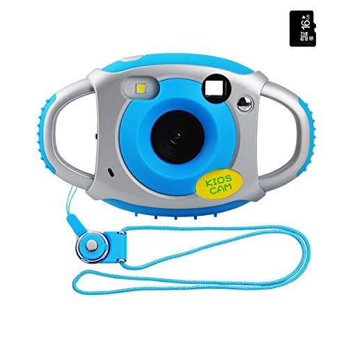 Miavogo Kinderkamera Kamera für Kinder 5 Megapixel 1,77 Zoll LCD, Blau + 16GB Mini SD-Karte(Generation 2.)