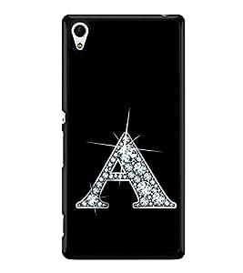 Alphabet A 2D Hard Polycarbonate Designer Back Case Cover for Sony Xperia Z4