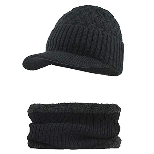 Fossen Invierno Hombre Gorro de Punto Tejer de lana Beanie Sombrero de  gorras. fbbd506c6aa
