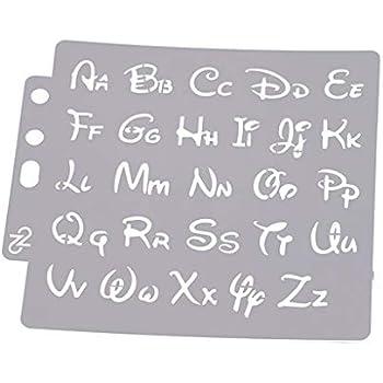DIY Alphabet Buchstaben-Schablonen Schablone Malerei Scrapbook Pr/ägung Stempeln Album Karte