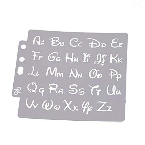 Jiay - Lettere dell'alfabeto Gabarit Pittura Scrapbooking goffratura Album Carta DIY