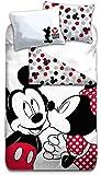 Gamesland Disney - Parure de lit 140X200 - Mickey & Minnie '100% Cotton'