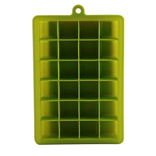 BlackEdragon Silikon Mit Deckel Eiswürfelschale Spot 24 Gitter Stereo Quadrat Eisgitterform Lebensmittelqualität Babynahrungsergänzungsmittel Box -