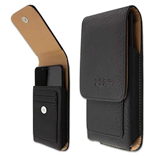 caseroxx Handy-Tasche Outdoor Tasche für Asus ROG Phone aus Echtleder, Handyhülle für Gürtel in schwarz