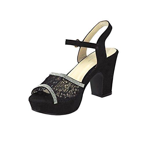 Fashion4Young , Escarpins pour femme Pink Multicolor 36 Noir