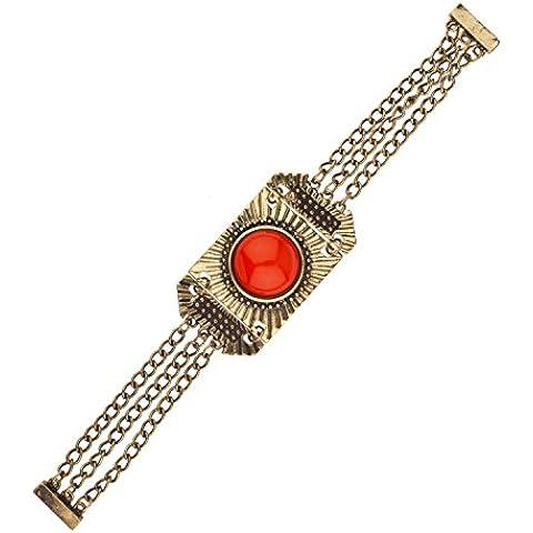 Lux accessori & Red-Bracciale in oro, taglio Cabochon