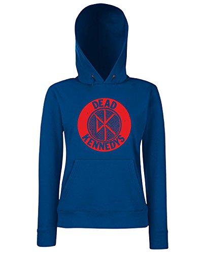 T-Shirtshock - Sweats a capuche Femme FUN1160 DeadKennedysTShirt CircleLogo Grey CU Bleu Navy
