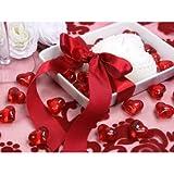 SiDeSo® Dekosteine Herzen rot 30 Stück Acryl Tischdeko Streudeko Hochzeit - 3