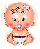 Produkt-Bild: Memorylab Großer Folienballon für Babypartys, für Junge / Mädchen, für Taufe, Neugeborene, Geburtstagsparty, Größe XL