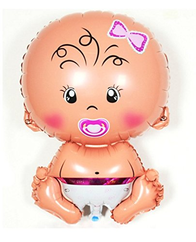 Memorylab - Globo para celebraciones de cumpleaños o embarazos (tamaño XL), diseño de bebé 3. BABY GIRL