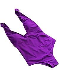 Damark(TM) Bañador de Mujer, Traje De Baño Una Pieza Mujer Monokini Espalda