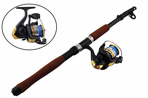 Shaddock Fishing ® 2.1m bewegliches leichtes Teleskop Angelrute und High-Speed-Spinning Reel Combos Set - Einstellbare Angeln Stange & Reel