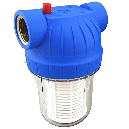 """FILTROTECH Wasserfilter 5Zoll Anschluss 3/4\"""" IG für Hauswasserwerke Hochdruckreiniger Gartenpumpen inkl. Filtereinsatz, Zubehör"""