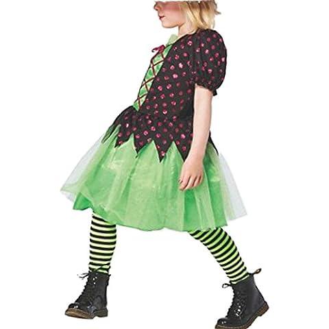 Kleine Bruja infantil niña Carnaval Halloween vestido 122–128