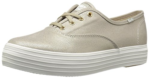 Keds Triple Metallic Canvas, Chaussures de Running Femme Or (Gold)