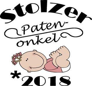 Mister Merchandise Herren Men T-Shirt Patenonkel - 2018 Tee Shirt bedruckt Schwarz