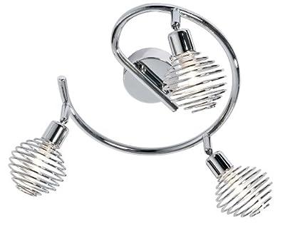 Nino Leuchten Halogen-Spiral Sinned / Durchmesser: 25 cm / chrom, mit Metallkopf chrom / 3-flammig 82329306 von Nino Leuchten GmbH - Lampenhans.de