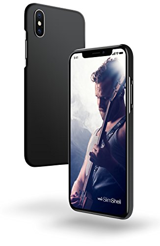 iPhone X Hülle - vau SlimShell Case - Schutzhülle, Tasche Rückseite (matt schwarz) matt schwarz