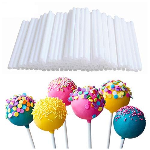 Paper Jam Kit (LARRY SHELL 400Pcs Lollipop Candy Set Chocolate Decoration Cake POP Making Kit Jam Packaging Snacks Food Grade Monochrome Paper DIY Backform 15X0.3CM)