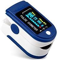 Goeco Pulsossimetro da Dito, Saturimetro Dito Portatile, con Allarme SPO2 Display OLED Ossimetro di Sangue per