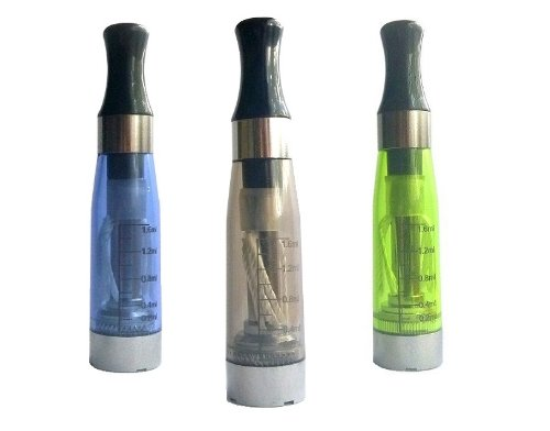 3x CE-V2 Clear Atomizer, 1x BLUE 1x BLACK 1x GREEN Verdampfer, Clearomizer im Sparpack, 8 lange Dochte