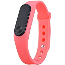 YiRong® Bluetooth 4.0 Fitness Tracker, IP65 resistente al agua Smartwatch con monitor de ritmo cardíaco, podómetro, contador de calorías para el iPhone Smartphone Android M2
