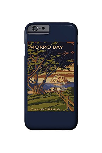 Morro Bay, California - Town View with Morro Rock (iPhone 6 Cell Phone Case, Slim Barely There) -