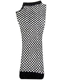 Fingerless Fishnet Stretchy Gothic Cyber Long Net Mesh Gloves