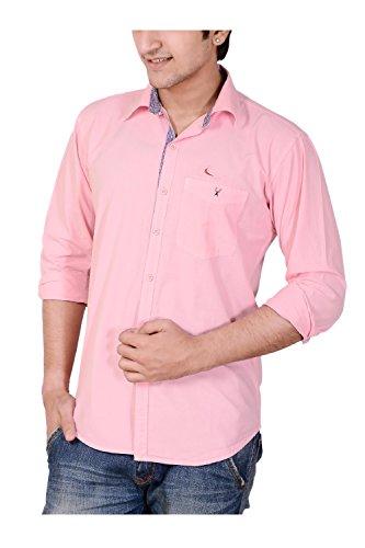 ANRY Mens Casual Shirt(PNK410040_Pink_40)